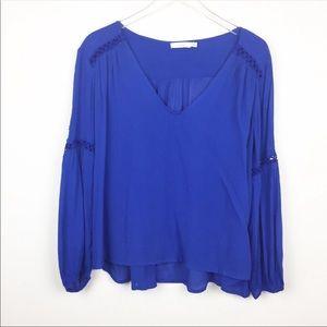 Lush Blouse - Cobalt Blue with arm detail
